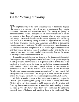Silvia Federici : On the Meaning of Gossip