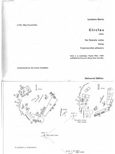 Luciano Berio's Circles (1960)