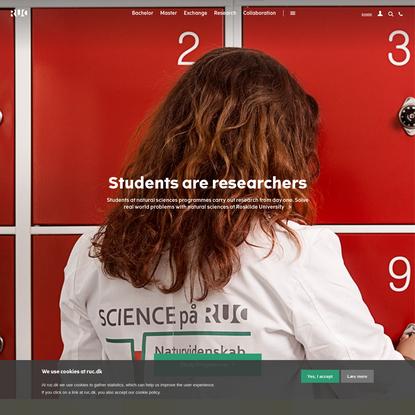 Frontpage Roskilde University