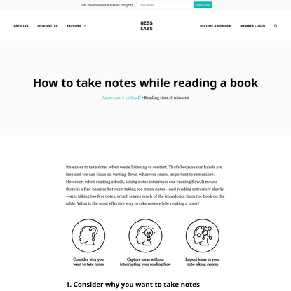 How to take notes while reading a book