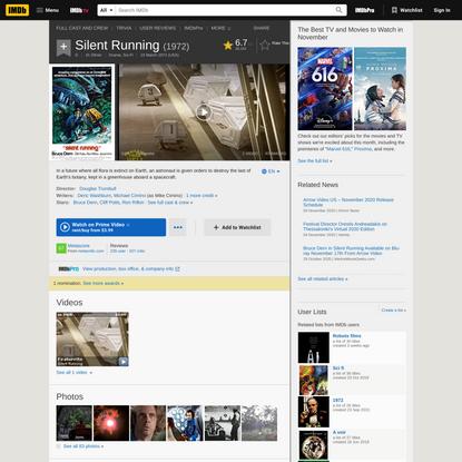 Silent Running (1972) - IMDb
