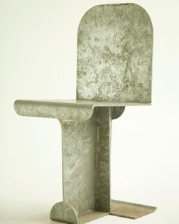 Isamu Noguchi Pierced Chair #isamunoguchi #modernfurniture #sculpturalfurniture #galvanizedsteel