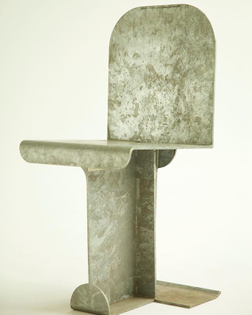 Isamu Noguchi Pierced Chair #isamunoguchi #modernfurniture #sculpturalfurniture #galvanizedsteel