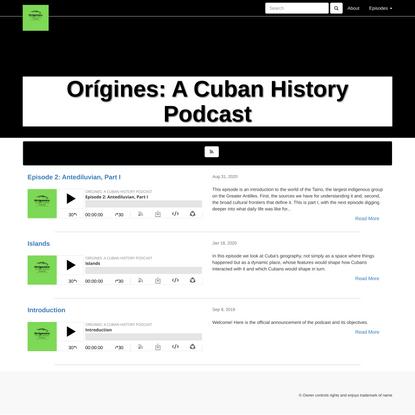 Orígines: A Cuban History Podcast
