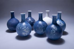 Cyanotype ceramic