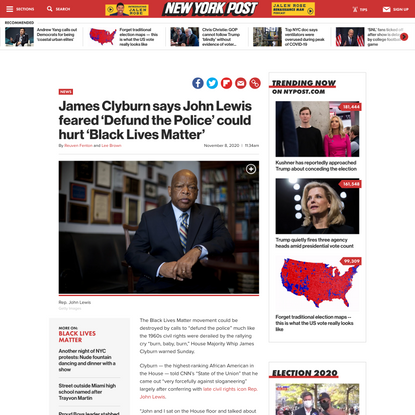 James Clyburn says John Lewis feared 'Defund the Police' could hurt 'Black Lives Matter'