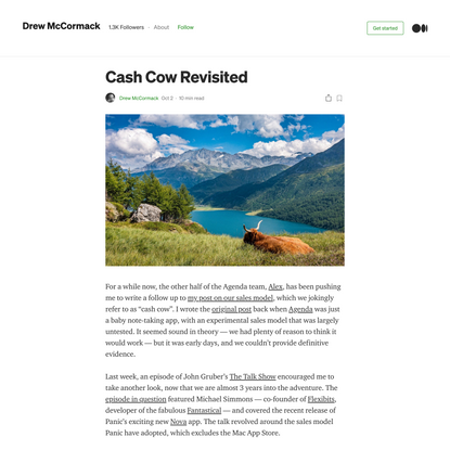 Cash Cow Revisited