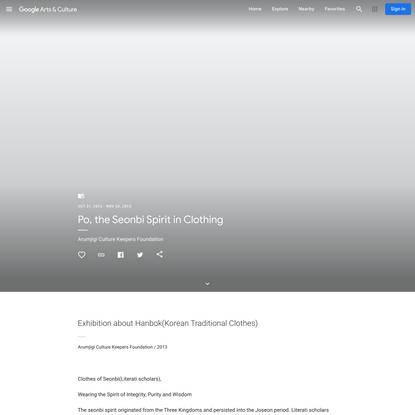 Po, the Seonbi Spirit in Clothing - Arumjigi Culture Keepers Foundation - Google Arts & Culture