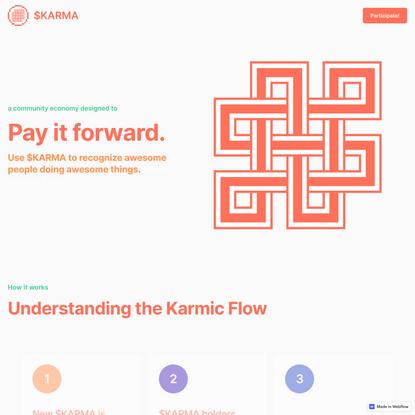 $KARMA - Recognize good deeds.