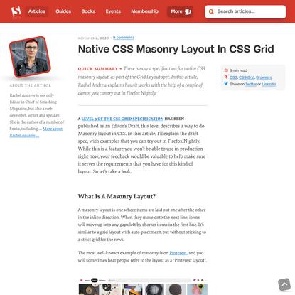 Native CSS Masonry Layout In CSS Grid — Smashing Magazine