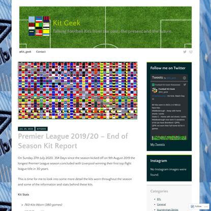 Premier League 2019/20 – End of Season Kit Report
