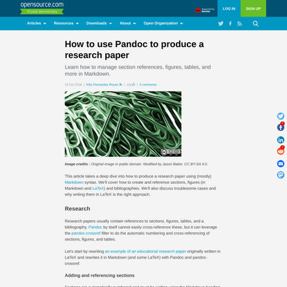 How to use Pandoc to produce a research paper