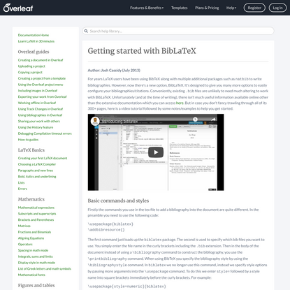 Getting started with BibLaTeX