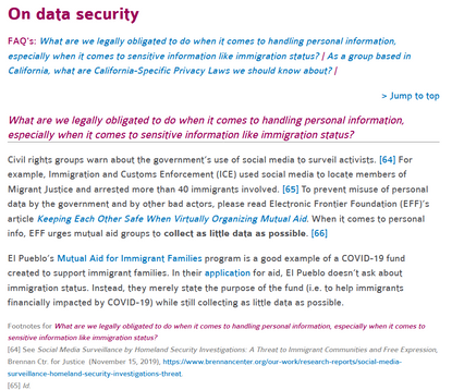 Sustainable Economies Law Center > On data security