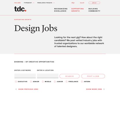 Design Jobs - The Type Directors Club