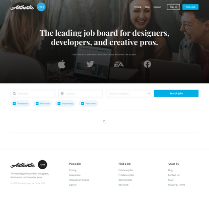 Authentic Jobs – Authentic Jobs for designers, developers and creative pros.