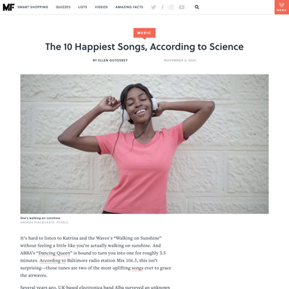 The 10 Happiest Songs, According to Science
