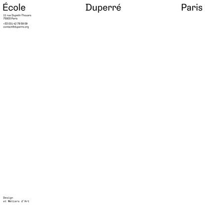 École Duperré Paris