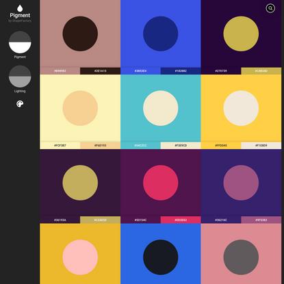 Pigment by ShapeFactory | Simple Color Palette Generator