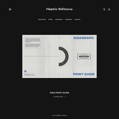 Haptic Editions