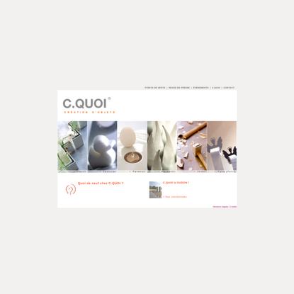 C.QUOI - Agence de design et de création d'objets design originaux