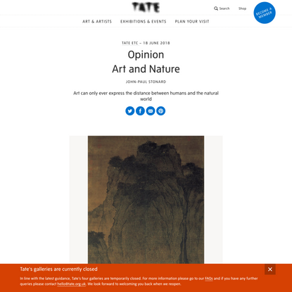 Opinion: Art and Nature – Tate Etc | Tate