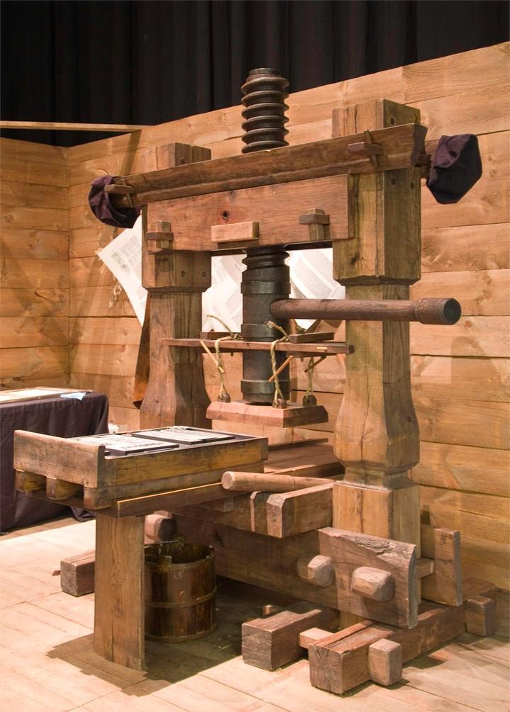 Gutenberg's Hand-powered Press