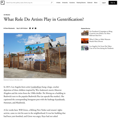 What Role Do Artists Play in Gentrification?