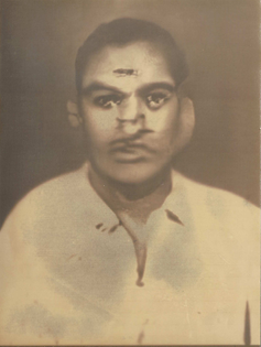 A sepia-toned lumen print of a machine generated image of what appears to be a man