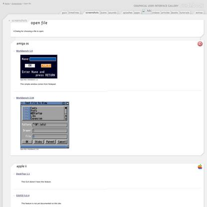 GUIdebook > Screenshots > Open file