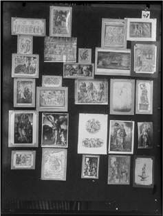 Aby Warburg, Picture Atlas Mnemosyne, 1928-29, Panel 47. (Photo: © The Warburg Institute London)