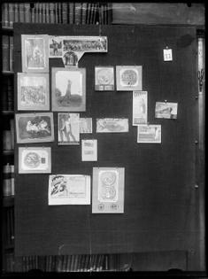 Aby Warburg, Bilderatlas Mnemosyne [Mnemosyne Atlas], Panel 77, 1929, digital positive from glass plate negative, 9 1/2 x 7 in. (23.7 x 17.7 cm). Warburg Institute Archive, London. © The Warburg Institute.