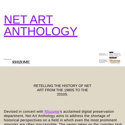 NET ART ANTHOLOGY