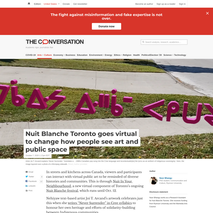 Nuit Blanche Toronto goes virtual to change how people see art and public space