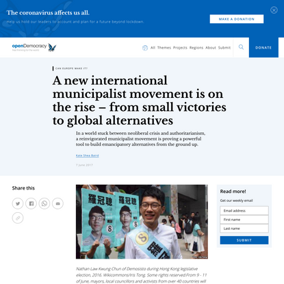 A new international municipalist movement is on the rise – from small victories to global alternatives