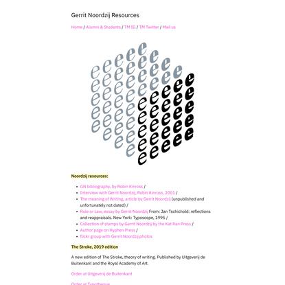 Gerrit Noordzij Resources