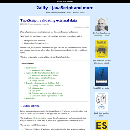 TypeScript: validating external data