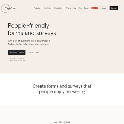 Typeform: People-Friendly Forms and Surveys