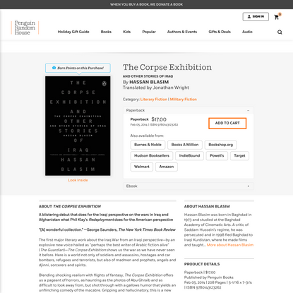 The Corpse Exhibition by Hassan Blasim: 9780143123262 | PenguinRandomHouse.com: Books