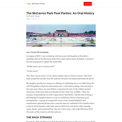 The McCarren Park Pool Parties: An Oral History