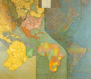 Juan Downey - World Map, 1979