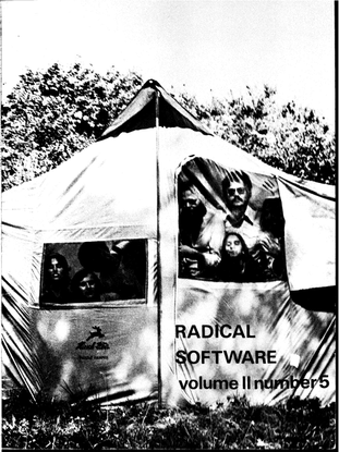 Radical Software: Video and Environment
