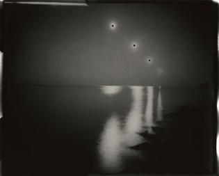 "Chris McCaw - Sunburned GSP#202(SF Bay/expanding), 2008. 16""x20"" unique gelatin silver paper negative."
