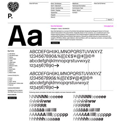 New Rail Alphabet   A2-TYPE