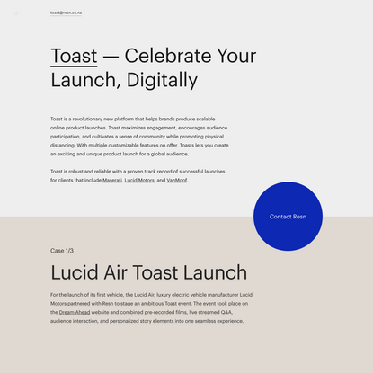 Toast – Celebrate Your Launch, Digitally