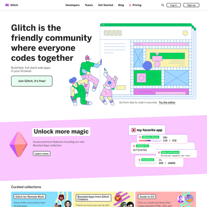 Glitch: The friendly community where everyone builds the web