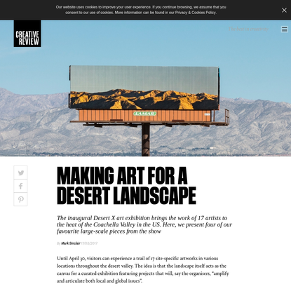 Making art for a desert landscape - Creative Review