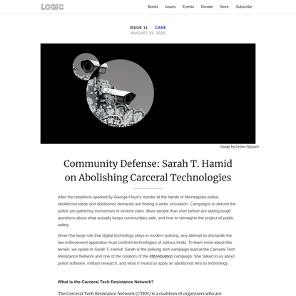 Community Defense: Sarah T. Hamid on Abolishing Carceral Technologies