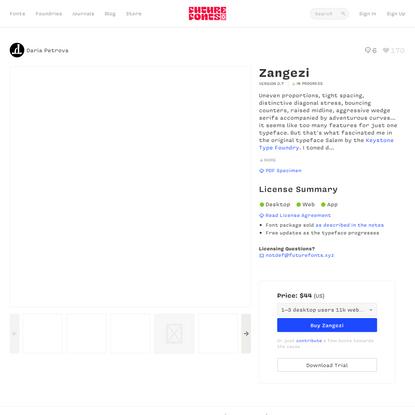 Zangezi by Daria Petrova - Future Fonts
