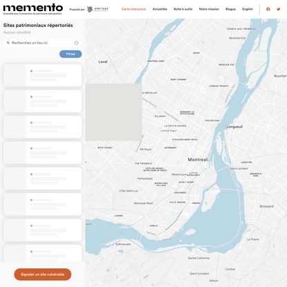 Carte interactive - Memento